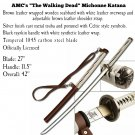 Walking Dead Official Michonne Katana with Leather-Wrapped Handle, Scabbard, and Wall Mount