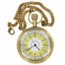 Memorable Moments Brass Pocket Watch with Wooden Box