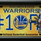 Golden State Warriors No. 1 Fan License Plate Clock