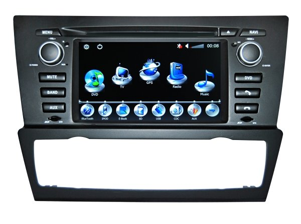 """BMW E90 DVD Player with GPS Navigation TV RDS FM IPOD Can BUS Bluetooth 7"""" Digital Screen"""