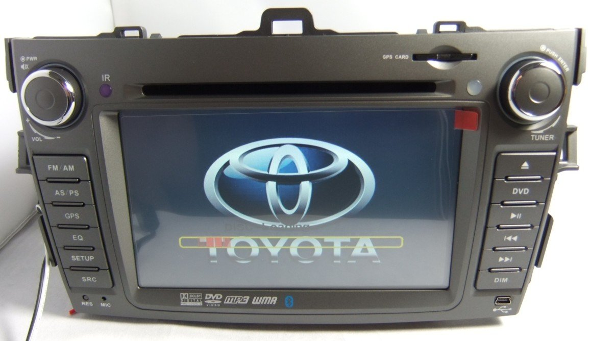 Double DIN Toyota Corolla DVD Player with GPS Navigation Built-in IPOD TV Bluetooth