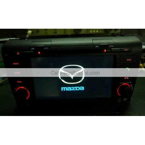 Double Din Mazda 3 DVD GPS 7 Inch Digital Screen with TV FM Steering Wheel Control Ipod RDS