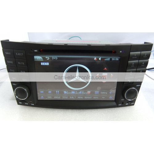 2 Din Benz W211 DVD Player - E Class Benz W211 GPS Navigation Radio Bluetooth