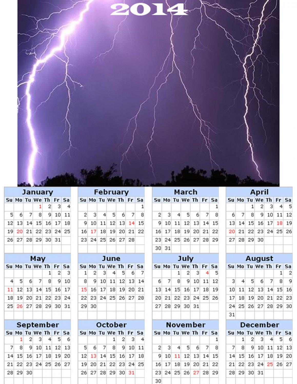 2014 calendar toolbox magnet refrigerator magnet weather #2