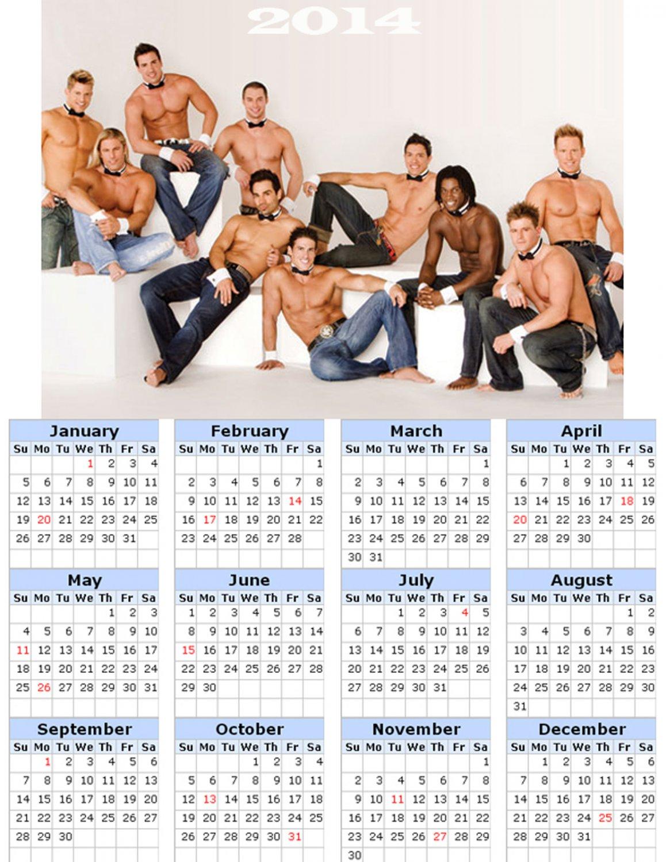 2014 calendar toolbox magnet refrigerator magnet Sexy Guys #3