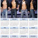 2014 calendar toolbox magnet refrigerator magnet Sexy Guys #5