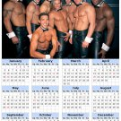 2014 calendar toolbox magnet refrigerator magnet Sexy Guys #7