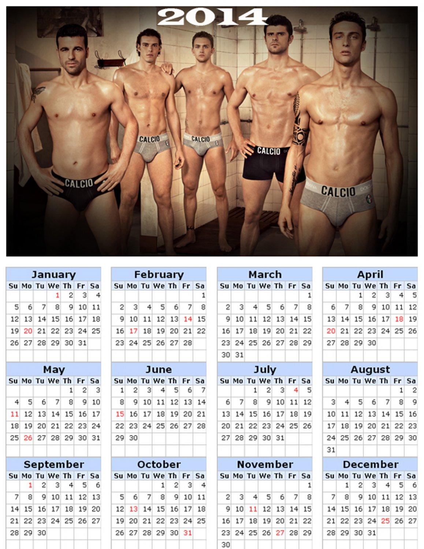 2014 calendar toolbox magnet refrigerator magnet Sexy Guys #8