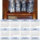 2014 calendar toolbox magnet refrigerator magnet Cats #1