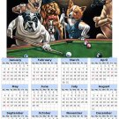 2014 calendar toolbox magnet refrigerator magnet Dogs #3