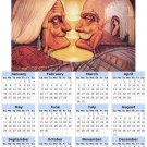 2014 calendar toolbox magnet refrigerator magnet Optical Illusions #2