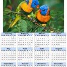 2014 calendar toolbox magnet refrigerator magnet Birds #4