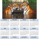 2014 calendar toolbox magnet refrigerator magnet BIG Cats #6