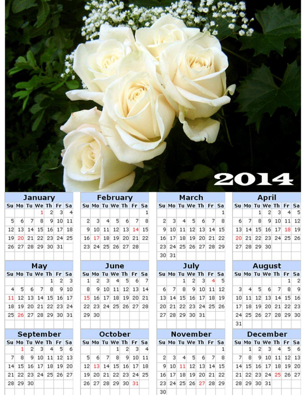 2014 calendar toolbox magnet refrigerator magnet Flowers #6
