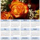 2014 calendar toolbox magnet refrigerator magnet Flowers #8