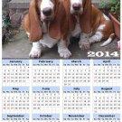 2014 calendar toolbox magnet refrigerator magnet Dogs #10