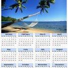 2014 calendar toolbox magnet refrigerator magnet beaches #7