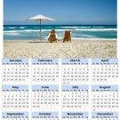 2014 calendar toolbox magnet refrigerator magnet beaches #8