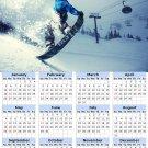 2014 calendar toolbox magnet refrigerator magnet Extreme Sports #2