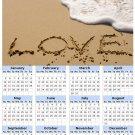 2014 calendar toolbox magnet refrigerator magnet Love #3