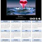 2014 calendar toolbox magnet refrigerator magnet Love #5