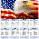 2014 calendar toolbox magnet refrigerator magnet Patriotic #2