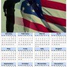 2014 calendar toolbox magnet refrigerator magnet Patriotic #3