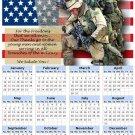 2014 calendar toolbox magnet refrigerator magnet Patriotic #5