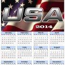 2014 calendar toolbox magnet refrigerator magnet Patriotic #8