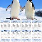 2014 calendar toolbox magnet refrigerator magnet Penguins #1