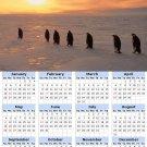 2014 calendar toolbox magnet refrigerator magnet Penguins #2