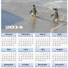 2014 calendar toolbox magnet refrigerator magnet Penguins #6