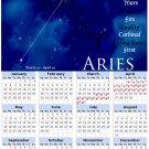 2014 calendar Astrology Zodiac refrigerator magnet Aries