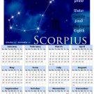 2014 calendar Astrology Zodiac refrigerator magnet Scorpio