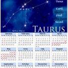 2014 calendar Astrology Zodiac refrigerator magnet Taurus