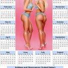 2014 calendar toolbox magnet refrigerator magnet Sexy Girls #20