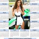 2014 calendar toolbox magnet refrigerator magnet Sexy Girls #23
