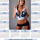 2014 calendar toolbox magnet refrigerator magnet Sexy Girls #26