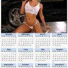 2014 calendar toolbox magnet refrigerator magnet Sexy Girls #29