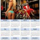 2014 calendar toolbox magnet refrigerator magnet Sexy Girls #32