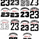 New personalized  Iron on Transfer Name & number ARCHED