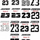 New sports personalized Iron on Transfer Name & number