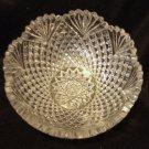 Higgins & Seiter Strawberry Diamond Fan American Brilliant Cut Glass Bowl