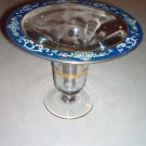 "1920s U S Glass, Fostoria 10.5"" Enamel Blue Case Vase"