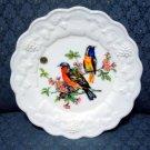 Westmoreland Milk Glass Panel Grape Luncheon - Birds