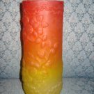 Dithridge & Co Amberina Satin Glass Vase, Victorian