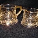 Old Westmoreland Filigree Pattern Creamer & Sugar Souvenir Erney, S. D.