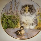 Just Ducky Kitten Encounters Plate by Pam Cooper China