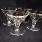 4 Baroque Crystal Sherbet Dishes, Fostoria Line 2496