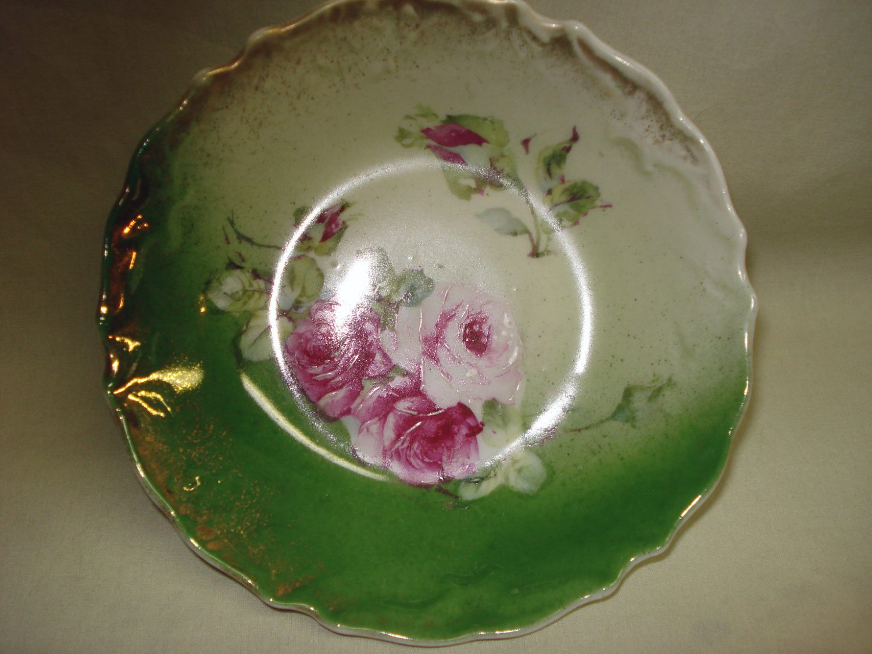 "Bavarian Porcelain 5-1/4"" Berry Bowl Roses Decoration"